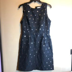 black silver polka dot dress